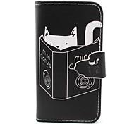 Lesemuster PU-Leder-Tasche für iPhone 4 / 4S
