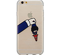 Pull pants cute transparent thin phone cases drawing iPhone6plus shell soft rubber material support