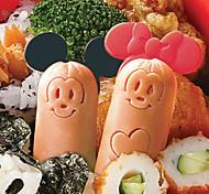 desenhos animados do rato salsicha molde cortador com picaretas almoço fabricante bento