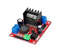 5v saída DC-DC integrado (placa vermelha) v2 para módulo da unidade de motor passo a passo de motor DC L298N