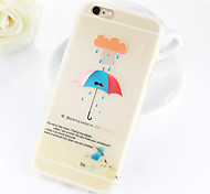 Colour Umbrella Pattern TPU Soft Case for iPhone 6