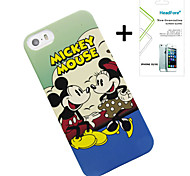Disney Mickey And Minnie Cover Case for Iphone5S/5G Free with Headfore Screen Protector for Iphone 5S/5G