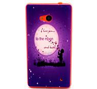 Moonlight  Pattern TPU Phone Case for Nokia Microsoft Lumia 640