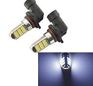 2pcs carking ™ 9005/9006 4w 27x5630smd 200ml ampoule 6000K lumière blanche arrière de voiture de lumière de brouillard (12V DC)