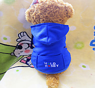 Dog Hoodies - XS / S / M / L - Winter - Red / Blue / Pink Polar Fleece