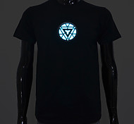 LED T-shirts Sound activated LED lights Cotton Novelty