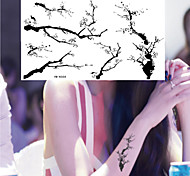 Meaningful Ink Painting Samuume Tattoo Stickers Temporary Tattoos(1 Pc)