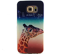 Giraffe Pattern TPU Painted Soft Back Cover for GALAXY S6/S6 edge S5/S5Mini S4/S4Mini S3/S3Mini