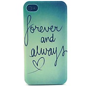 Always love Pattern PC Material Phone Case for iPhone 4/4S