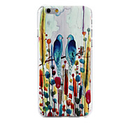 Birds Pattern PC Material Phone Case for iPhone 6