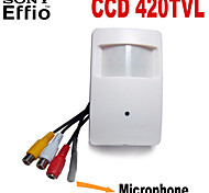 420TVL Sony CCD Mini Hidden Camera PIR CCTV Security Camera with 3.7mm Pinhole Lens Audio External Microphone