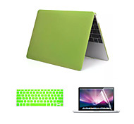 "Matte Style 3 in 1 Full Body Case with Keyboard Cover and Screen Protector for New Macbook Retina 12"" (Assorted Colors)"