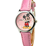 Children's Mickey Pattern PU Band Cute Cartoon Analog Wrist Watch Cool Watches Unique Watches