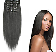 "70g (7pcs)/set 8""-16"" Clip In Brazilian Hair Extensions clip in human hair extensions Straight Hair"