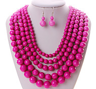 Women Vintage / Party / Casual Alloy / Gemstone & Crystal Necklace / Earrings Sets
