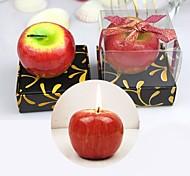 Apple Shaped Candles Tea Light Designed Fruit Candles Home (Random Colors)