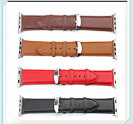 WatChband For Apple iWatch Watchband With Connector For Apple iWatchGenuine Leather Watchband for iWatch 38mm
