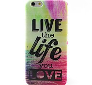 Life Pattern TPU Material Soft Phone Case for iPhone 6