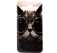 Glasses Cat Pattern TPU Material Phone Case for Samsung Galaxy J5 / Galaxy J7