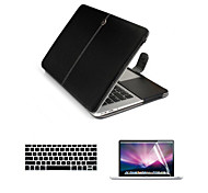 For Macbook Air 11.6/13.3 inch PU Leather Laptop Cace Bag with Screen Flim and Keyboard Cover