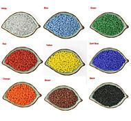 beadia 90g (aprox 900pcs) Missangas de vidro moda 4 milímetros rodada 9 cores sólidas u pick-esferas de pônei acessórios de vestuário DIY