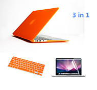 """3 in 1 Full Body Hard Cases with Keyboard Flim and HD Screen Protector for Macbook Retina 15.4"""" (Assorted Colors)"""
