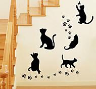 стены стикеры стены наклейки стиль Черная кошка наклейки ПВХ стены