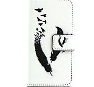 Feder-Muster PU-Leder gemalt Telefonkasten für iphone 5/5 s