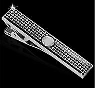 Men's Star Logo Spots Enamel Blk Silver Suit Shirt Tie Bar Clip Clasp