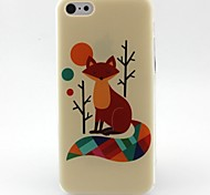 Fox Pattern TPU Material Phone Case for iPhone 5C