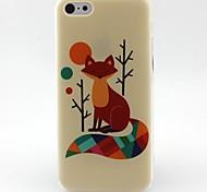 fox modèle TPU matériau de téléphone pour iphone 5c