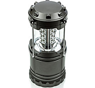 Portable and Collapsible 30LED Camping Lantern, Extremely Bright and Lightweight Flashlights Black