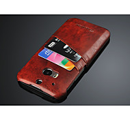 Luxury style high quality card slot case for htc m8