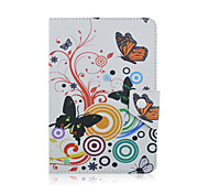 SZKINSTON Butterfly Case Cover Shockproof with Stand Sleep Magnetic Pattern Full Body PU Leather For All 9.5 - 10.5 Inch Mobile Phone or Tablet