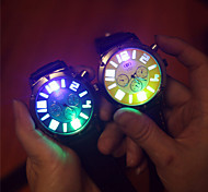 Unisex Large Dial Silicone Jelly Strap Mens Watch Noctilucent Womens Wrist Watch Students Watch