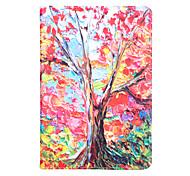 kleurrijke schilderij boom met stand beschermhoes kaart voor Samsung Galaxy Tab een 9,7