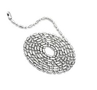 Korean Style Round Shape Titanium Steel Hot Sales Necklace For Lover's(Silver)(1Pc)