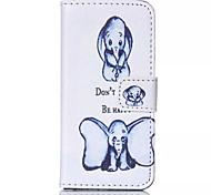 zwei dumbo Muster PU-lederner Handyfall für iphone 5/5 s