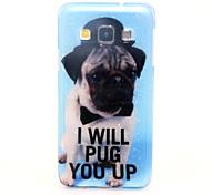 Dog Pattern Glitter TPU Material Soft Phone Case for Samsung Galaxy A3 A5 A7