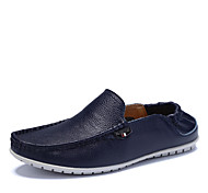 Men's Shoes Casual Leather Loafers Blue/White/Orange/Black
