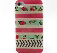 Stripe Pattern TPU Phone Case for iPhone 4/4S