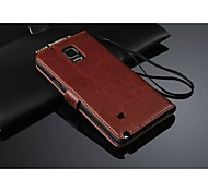 PU Leather Full Body Wallet Back Case with Card Holder for Samsung Galaxy Note 4 (Assorted Color)