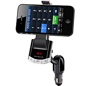 New Arrival Bluetooth Car Kit Phone Mount Holder USB Charger FM Transmitter MP3 Player Black Color