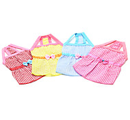 Red/Blue/Pink/Yellow Cotton Dresses For Dogs