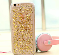 Transparent Shiny Gold Pieces Pattern PC Hard Back Case Cover for iPhone 6(Assorted Colors)