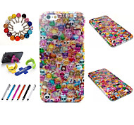 Special Design Novelty Glitter TPU Package Includes Stand Anti-dust Plug stylus for iPhone 6