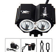 SolarStorm 5000 Lumen 2x CREE T6 LED Front Bicycle Light Bike Headlamp Headlight