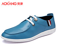 Aokang Men's Shoes Outdoor/Athletic/Casual Leather Fashion Sneakers Blue/Brown