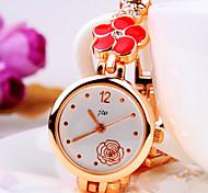 marés atual forma da flor de discagem padrão de flor rodada banda com diamantes moda pulseira quartzo relógio das mulheres