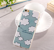 White Cloud Pattern TPU Soft Back Cover for iPhone 6/6S